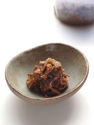 鶏皮と生姜(しょうが)の佃煮
