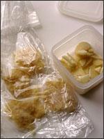 生姜とにんにくの冷凍ストック