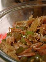 常備菜/大根葉と油揚げと桜海老の炒り煮