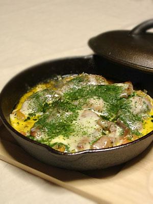 マグロと長ネギのチーズ焼き