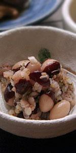 パンダ豆と雑穀のマリネ