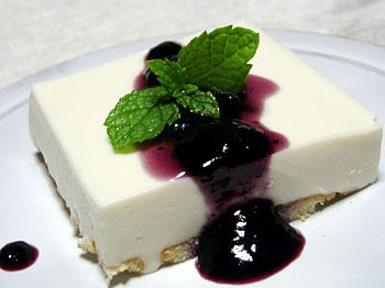 豆腐レアチーズケーキ