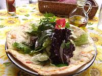フレッシュハーブサラダピザ